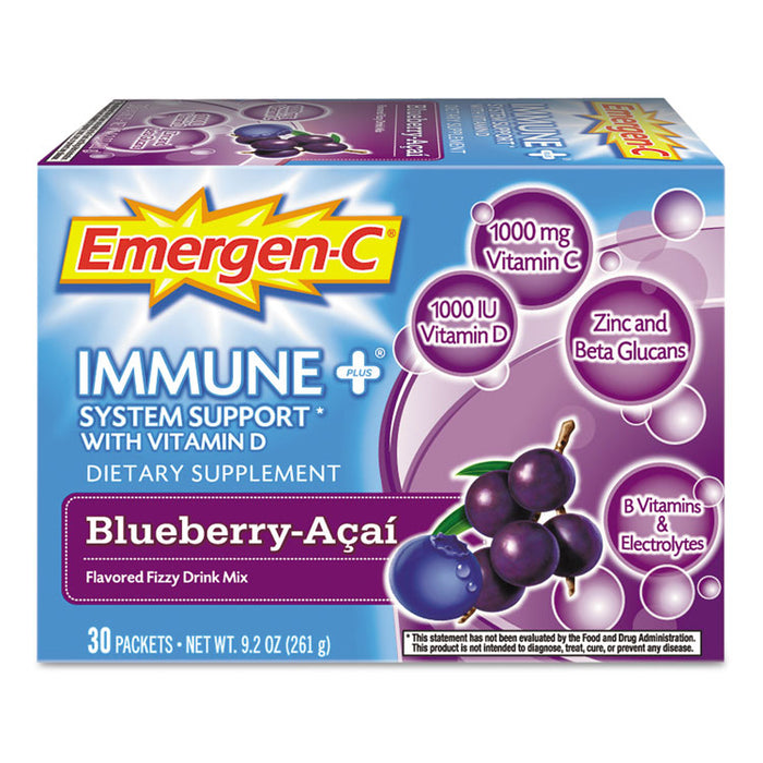 Immune+ Formula, .3oz, Blueberry Acai, 30/Pack