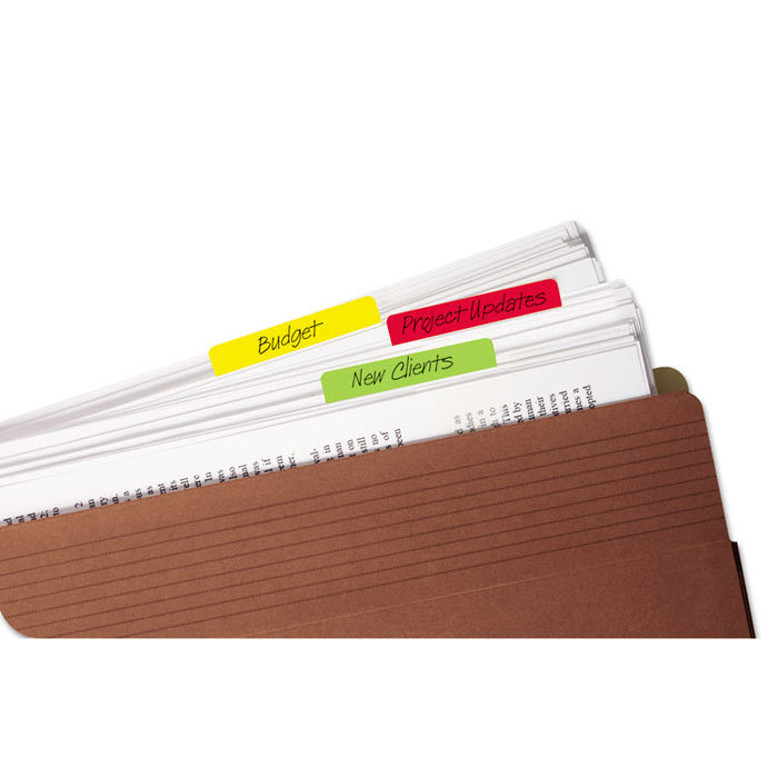 "2"" and 3"" Tabs, 1/5-Cut Tabs, Assorted Colors, 2"" Wide, 24/Pack"