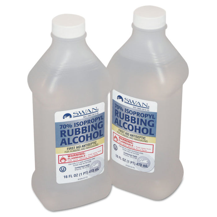 First Aid Kit Rubbing Alcohol, Isopropyl Alcohol, 16 oz Bottle
