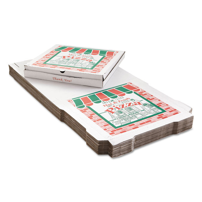 Corrugated Pizza Boxes, 24 x 24, White, 25/Carton