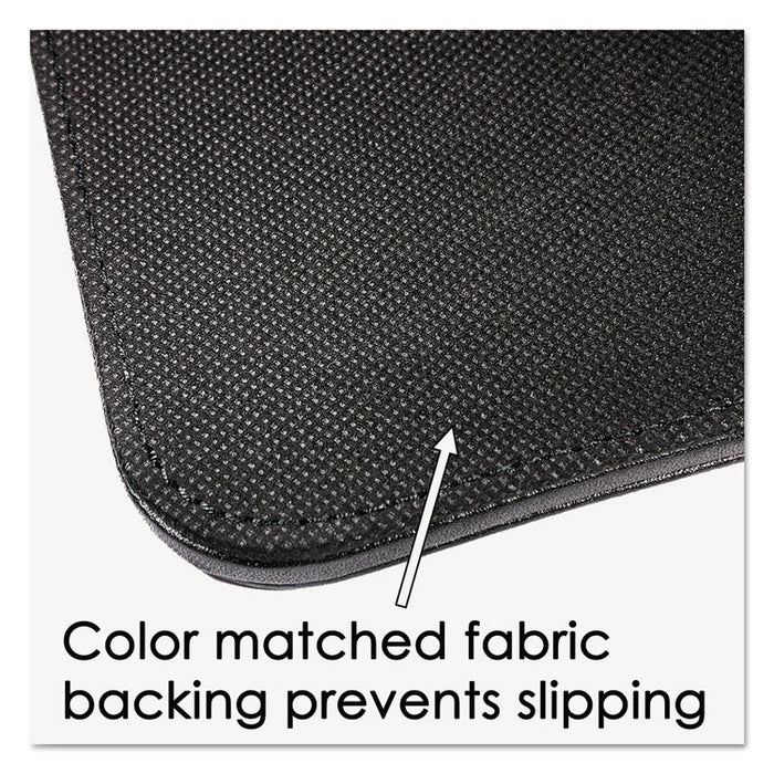 Sagamore Desk Pad w/Decorative Stitching, 36 x 20, Black