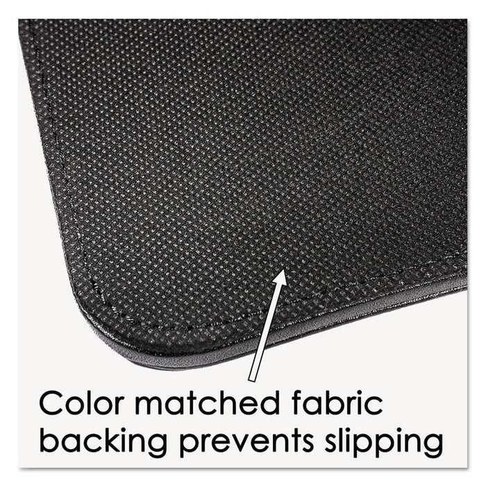 Sagamore Desk Pad w/Decorative Stitching, 38 x 24, Black