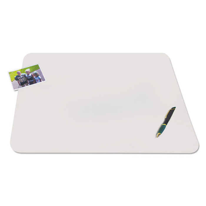 KrystalView Desk Pad with Antimicrobial Protection, 36 x 20, Matte Finish, Clear