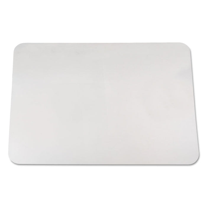 KrystalView Desk Pad with Antimicrobial Protection, 22 x 17, Clear