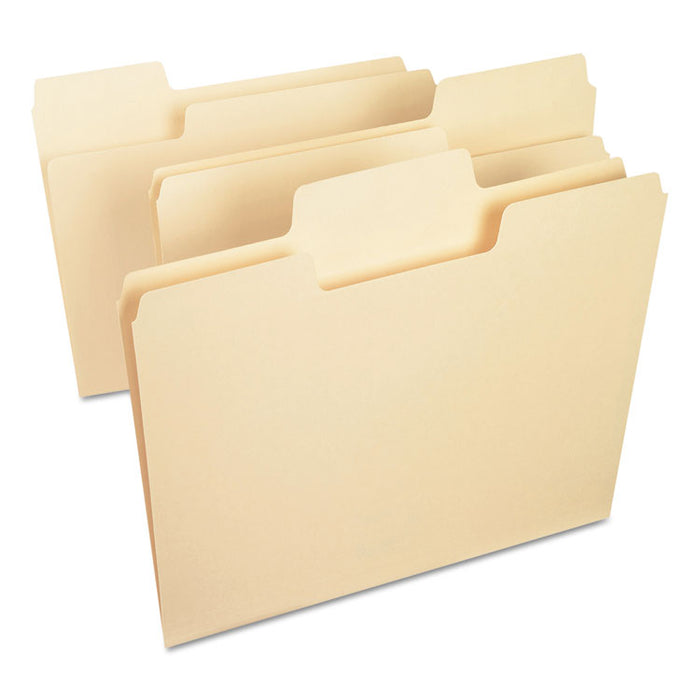 SuperTab Top Tab File Folders, 1/3-Cut Tabs, Letter Size, 14 pt. Manila, 50/Box