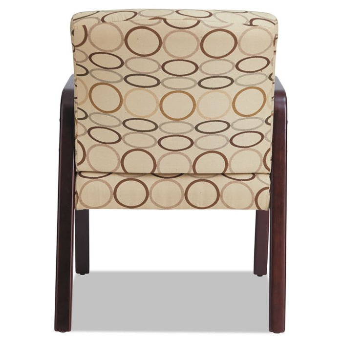 Alera Reception Lounge WL Series Guest Chair, 23.81'' x 25.37'' x 32.67'', Tan Seat/Tan Back, Mahogany Base