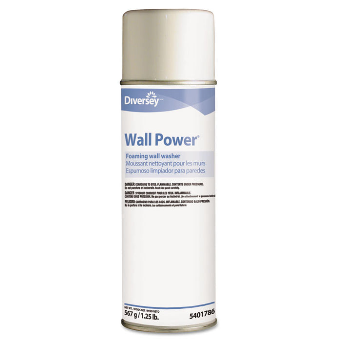 Wall Power Foaming Wall Washer, 20 oz Can, 12/Carton