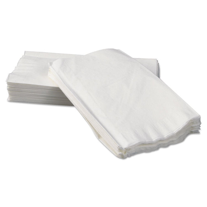 Tall-Fold Dispenser Napkins, 2-Ply, 7 x 13 1/4, White, 500/Pack, 20 Packs/Carton