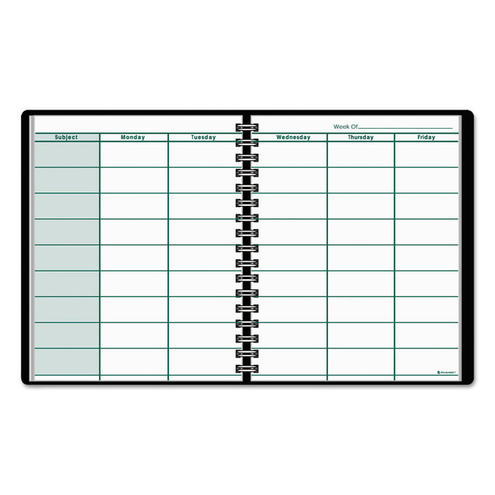 Undated Teacher's Planner, 10 7/8 x 8 1/4, Black