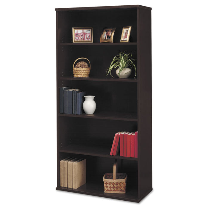 Series C Collection 36W 5 Shelf Bookcase, Mocha Cherry