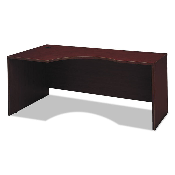 Series C Collection 72W Left Hand Corner Module, 71.13w x 35.5d x 29.88h, Mahogany