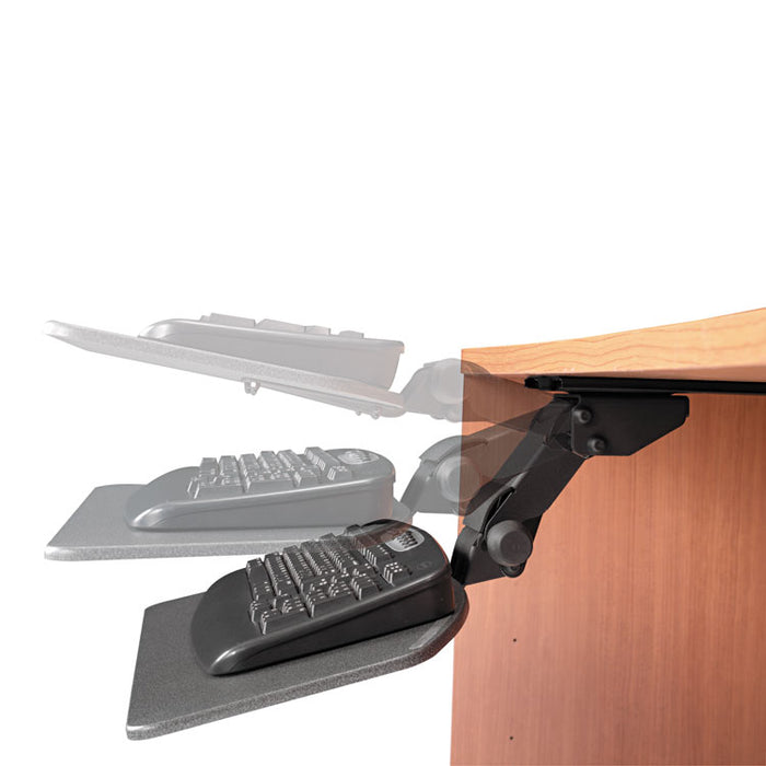 Articulating Keyboard Tray Accessory, 24.63w x 22.25d, Galaxy