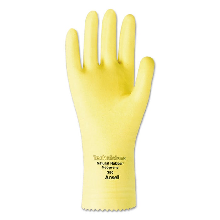 Technicians Latex/Neoprene Blend Gloves, Size 8, Natural, 1 Dozen