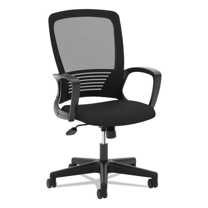 HVL525 Mesh High-Back Task Chair, Supports up to 250 lbs., Black Seat/Black Back, Black Base