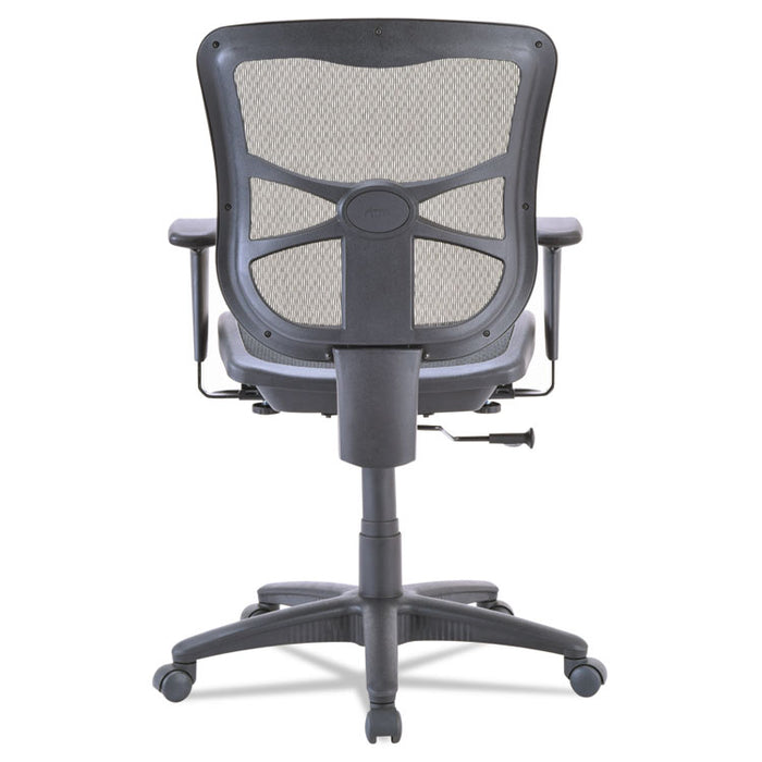 Alera Elusion Series Mesh Mid-Back Swivel/Tilt Chair, Supports up to 275 lbs., Black Seat/Black Back, Black Base
