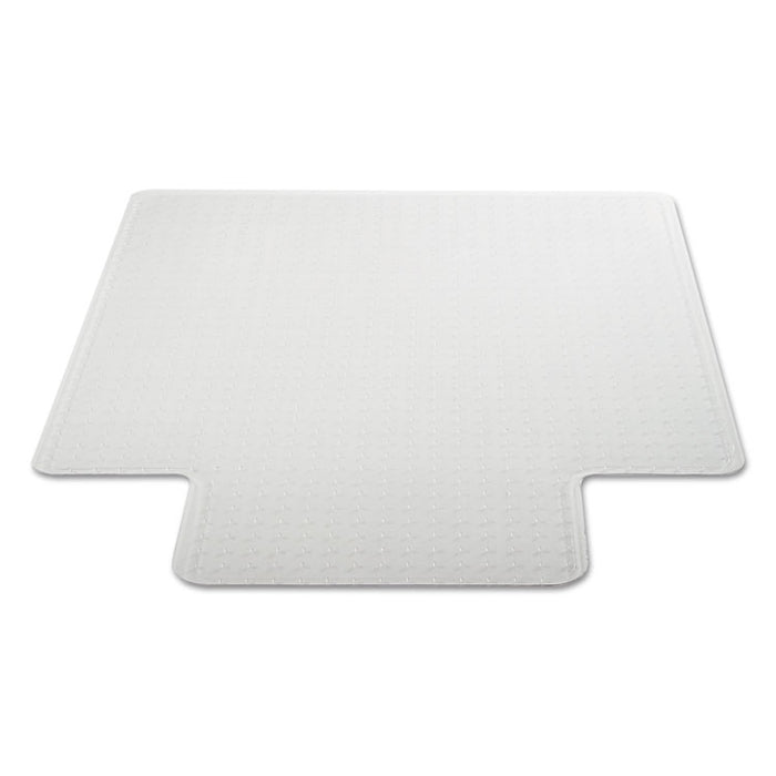 Moderate Use Studded Chair Mat for Low Pile Carpet, 36 x 48, Lipped, Clear