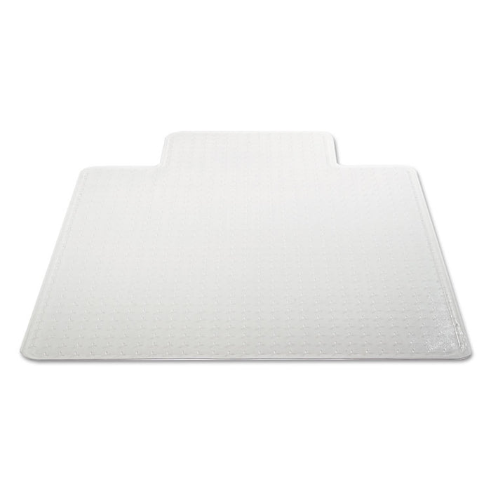 Moderate Use Studded Chair Mat for Low Pile Carpet, 45 x 53, Wide Lipped, Clear
