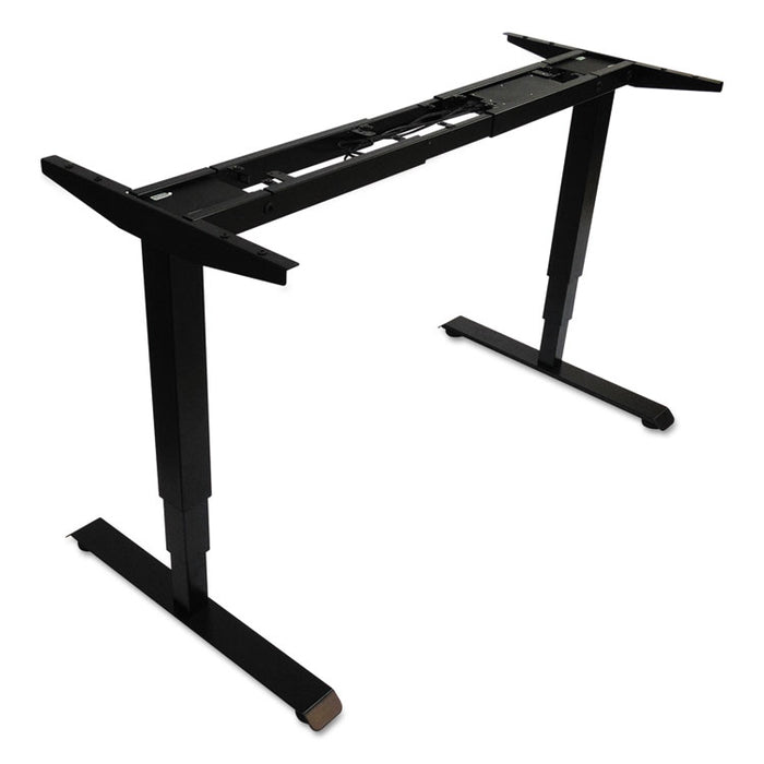 "AdaptivErgo 3-Stage Electric Table Base w/Memory Controls, 25"" to 50.7"", Black"
