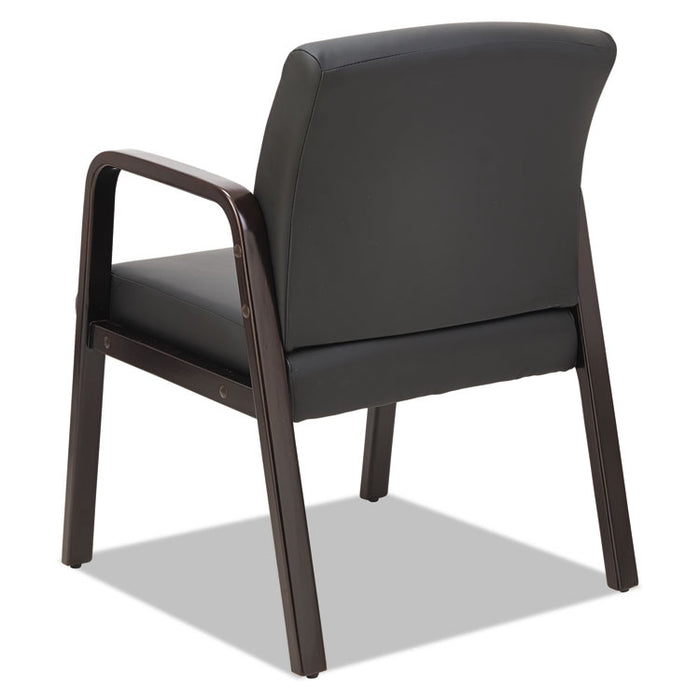 Alera Reception Lounge WL Series Guest Chair, 23.81'' x 25.37'' x 32.67'', Black Seat/Black Back, Espresso Base