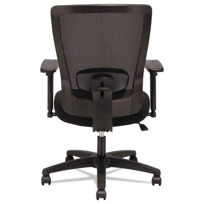 Alera Envy Series Mesh High-Back Swivel/Tilt Chair, Supports up to 250 lbs., Black Seat/Black Back, Black Base