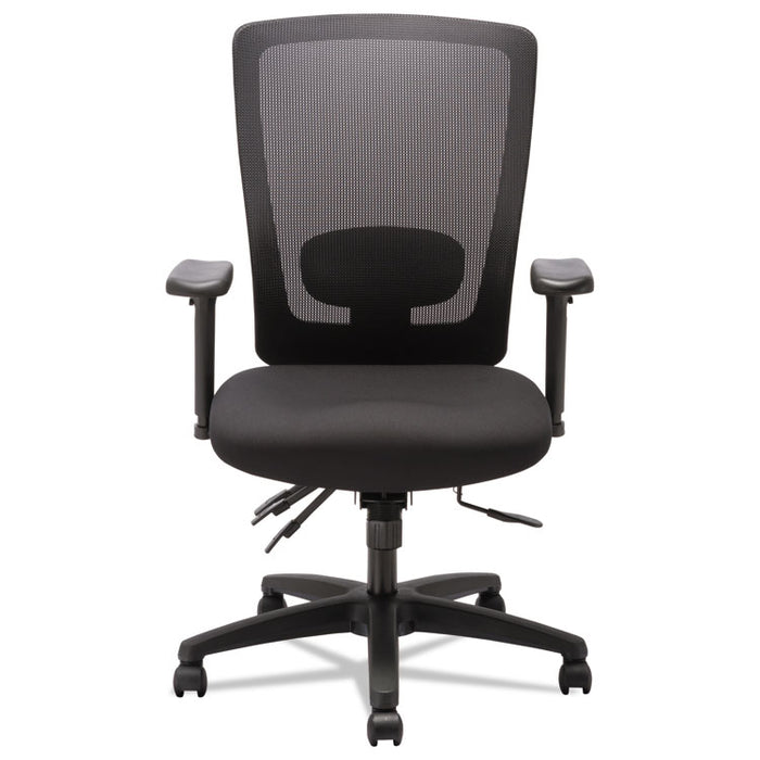 Alera Envy Series Mesh High-Back Multifunction Chair, Supports up to 250 lbs., Black Seat/Black Back, Black Base