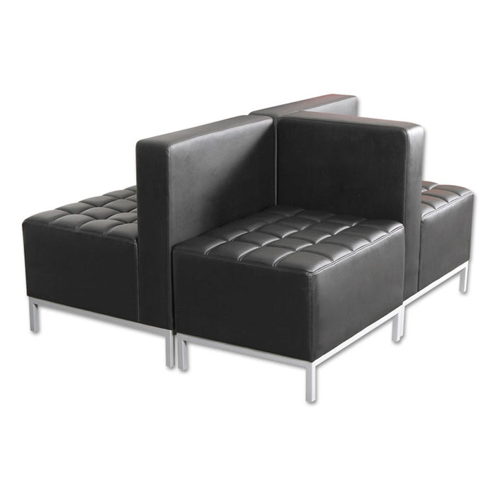 Alera QUB Series Corner Sectional, 26.38w x 26.38d x 30.5h, Black