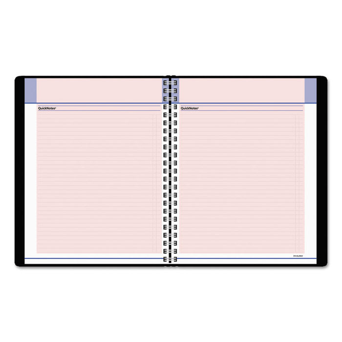 QuickNotes Special Edition Monthly Planner, 8 3/4 x 6 7/8, Black/Pink, 2020