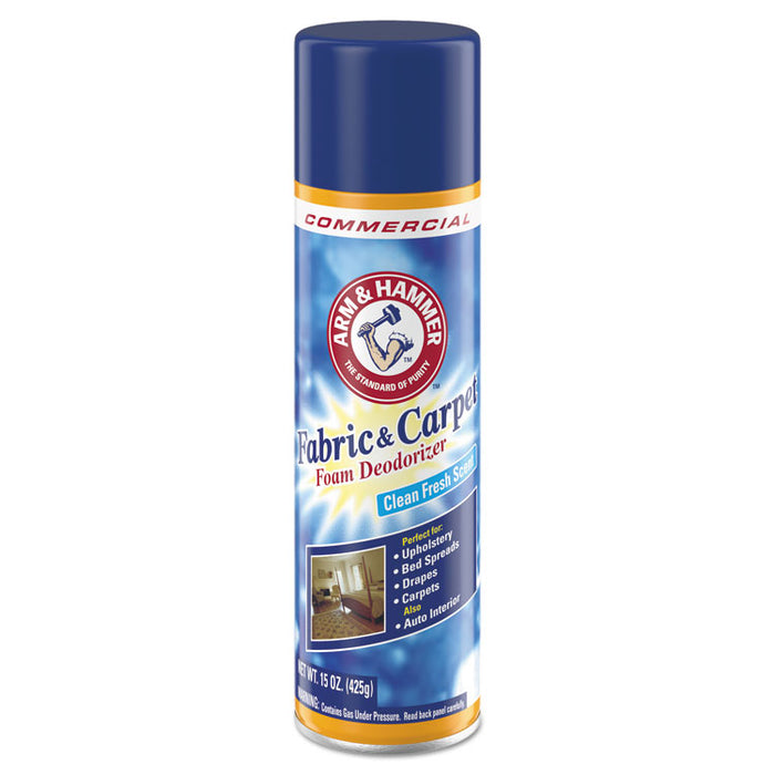 Fabric and Carpet Foam Deodorizer, Fresh Scent, 15 oz Aerosol