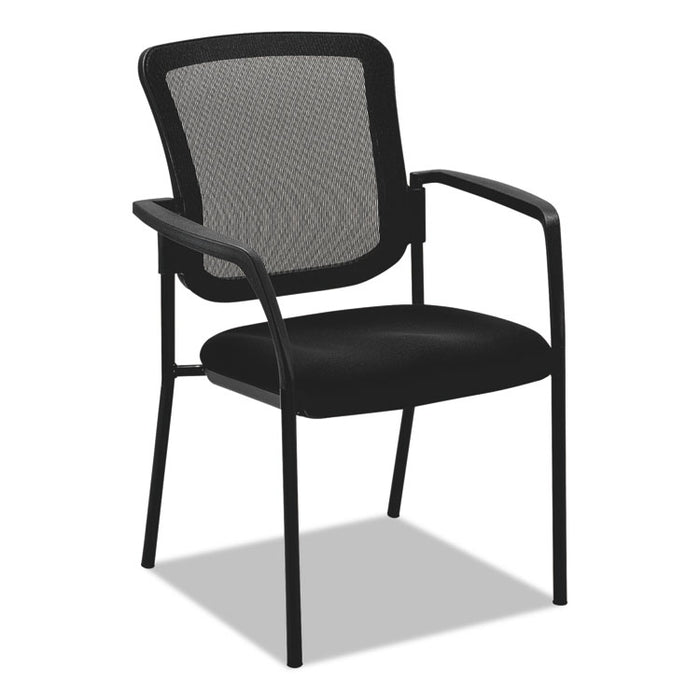 Mesh Guest Stacking Chair, Supports up to 275 lbs., Black Seat/Black Back, Black Base