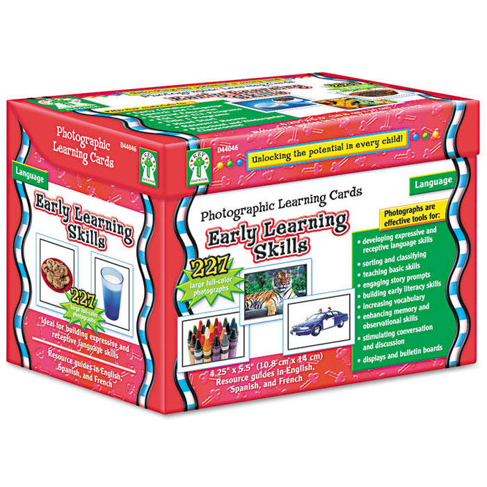 Photographic Learning Cards Boxed Set, Early Learning Skills, Grades K-5
