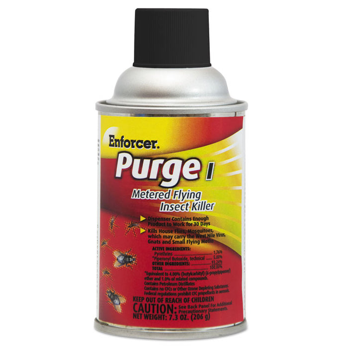 Purge I Metered Flying Insect Killer, 7.3 oz Aerosol, Unscented, 12/Carton