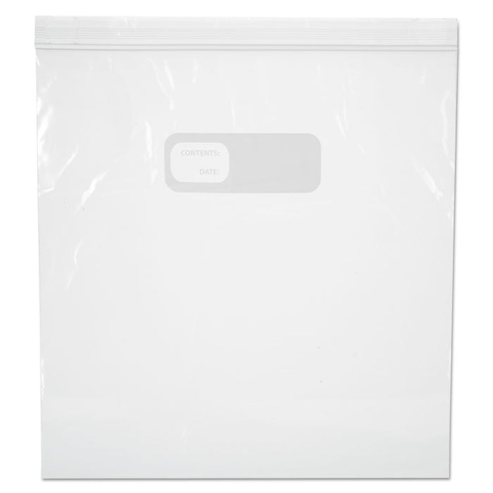 "Reclosable Food Storage Bags, 1 gal, 2.7 mil, 10.5"" x 11"", Clear, 250/Box"