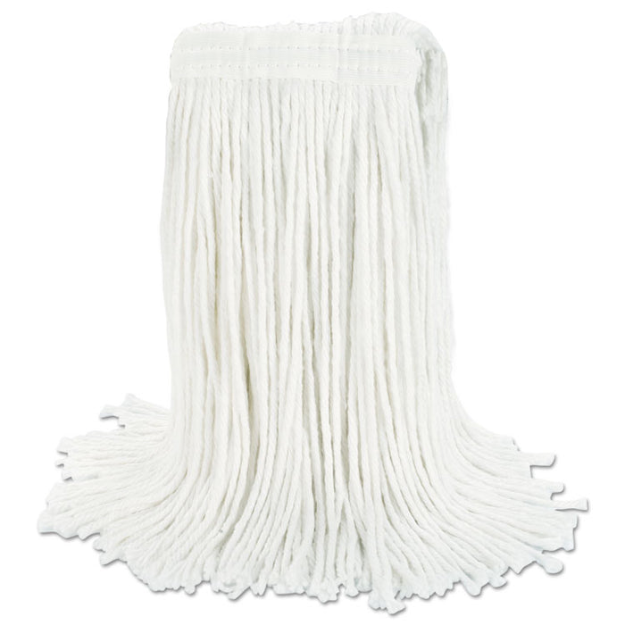 Cut-End Wet Mop Head, Rayon, No. 24, White