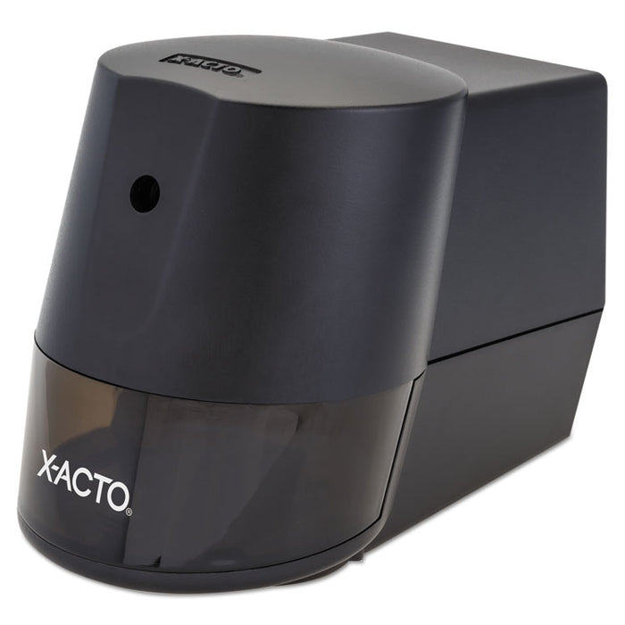 "Model 2000 Home Office Electric Pencil Sharpener, AC-Powered, 7.75"" x 3.5"" x 4.5"", Black"
