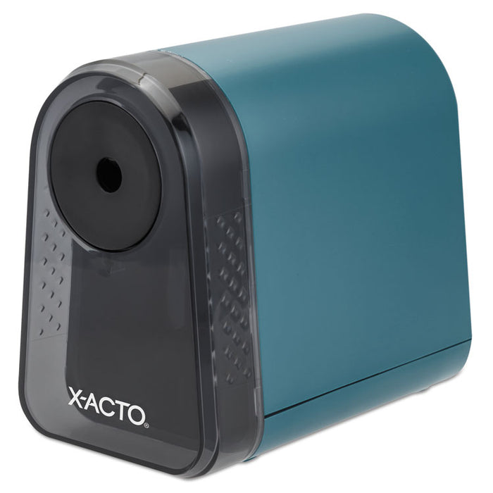 "Mighty Mite Home Office Electric Pencil Sharpener, AC-Powered, 3.5"" x 5"" x 3.5"", Mineral Green"