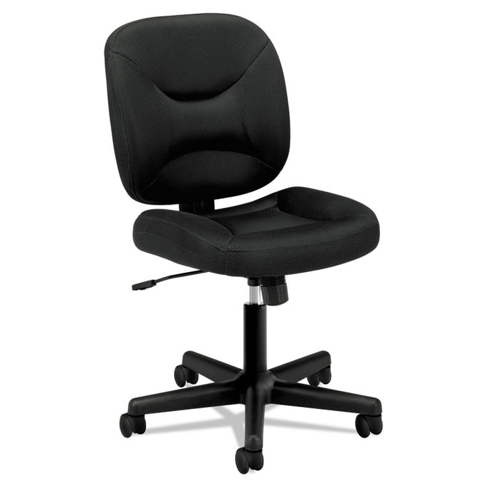 VL210 Low-Back Task Chair, Supports up to 250 lbs., Black Seat/Black Back, Black Base