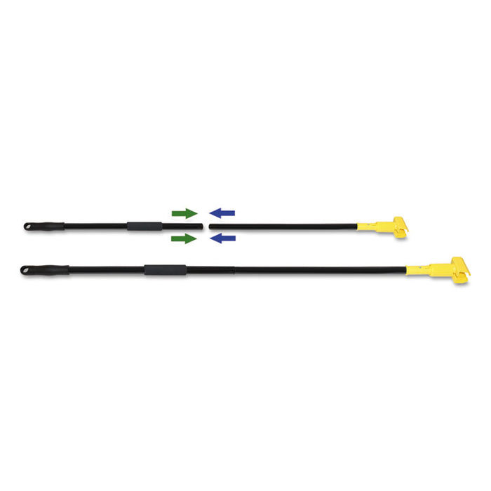 "Two-Piece Metal Handle with Plastic Jaw Head, 59"" Handle, Black/Yellow"