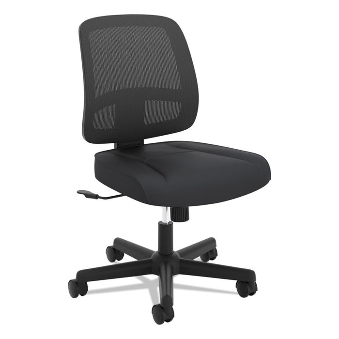 ValuTask Mesh Back Task Chair, Supports up to 250 lbs., Black Seat/Black Back, Black Base