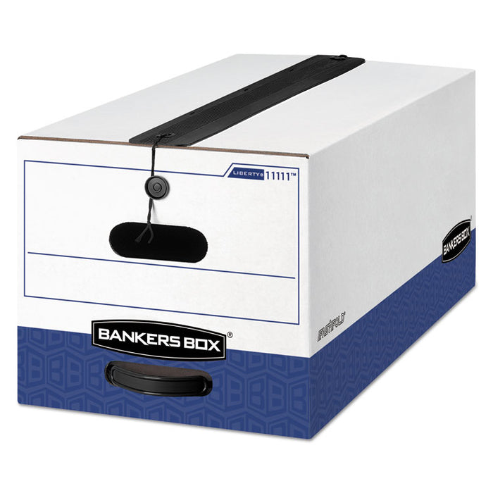 "LIBERTY Plus Heavy-Duty Strength Storage Boxes, Letter Files, 12.25"" x 24.13"" x 10.75"", White/Blue, 12/Carton"