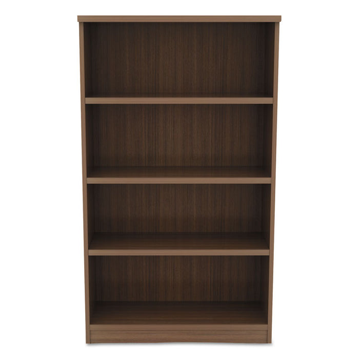 Alera Valencia Series Bookcase, Four-Shelf, 31 3/4w x 14d x 54 7/8h, Modern Walnut