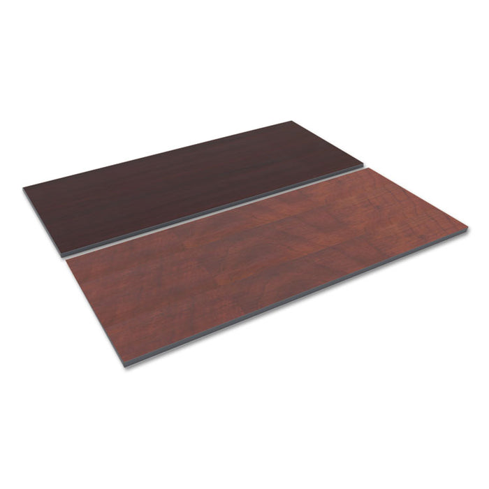 Reversible Laminate Table Top, Rectangular, 71 1/2 x 29 1/2, Med Cherry/Mahogany