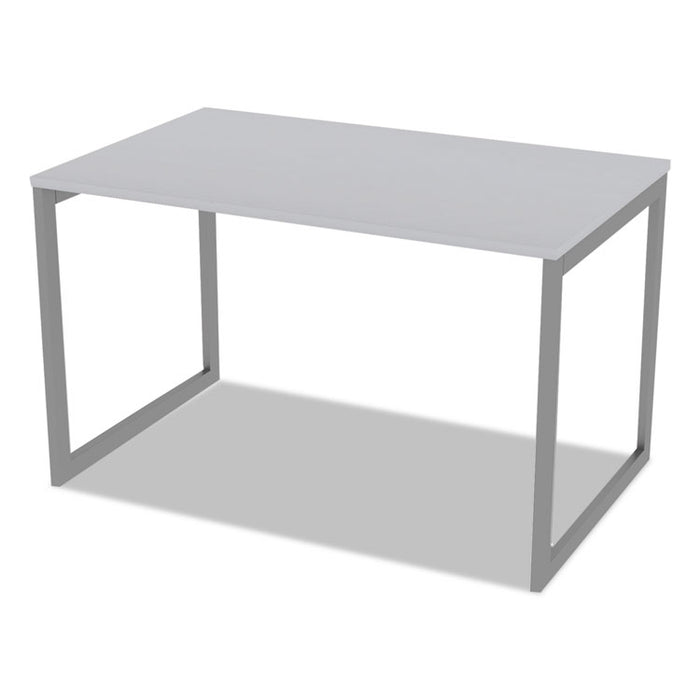 "Alera Open Office Desk Series Adjustable O-Leg Desk Base, 30"" Deep, Silver"