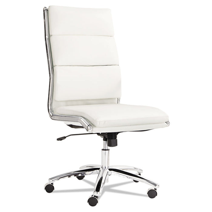 Alera Neratoli High-Back Slim Profile Chair, Supports up to 275 lbs., White Seat/White Back, Chrome Base