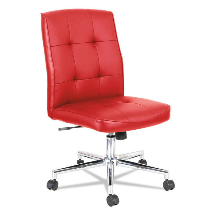 Slimline Swivel/Tilt Task Chair, Supports up to 275 lbs., Red Seat/Red Back, Chrome Base