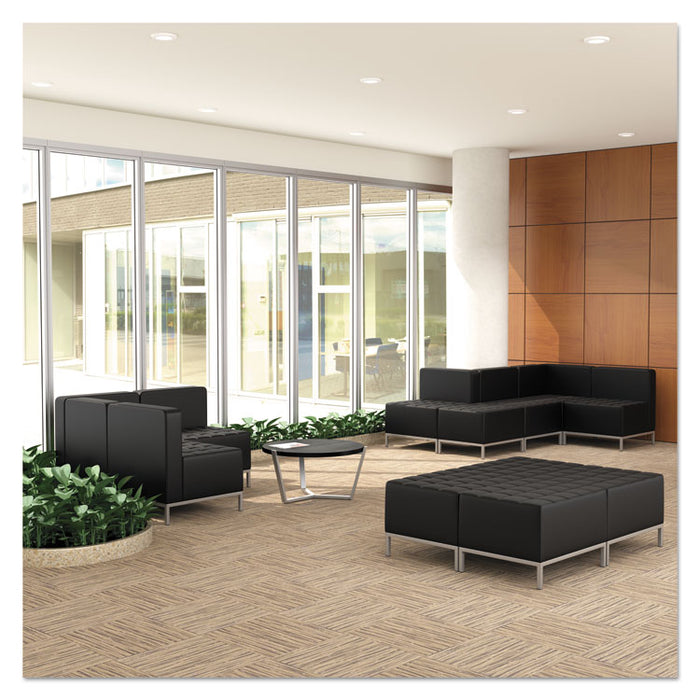 Alera QUB Series Armless L Sectional, 26.38w x 26.38d x 30.5h, Black