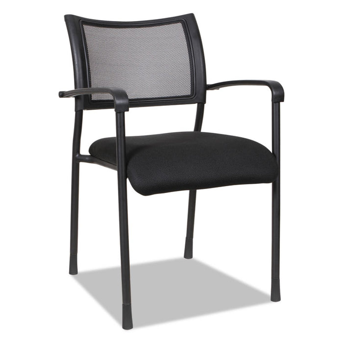 Alera Eikon Series Stacking Mesh Guest Chair, Black Seat/Black Back, Black Base, 2/Carton