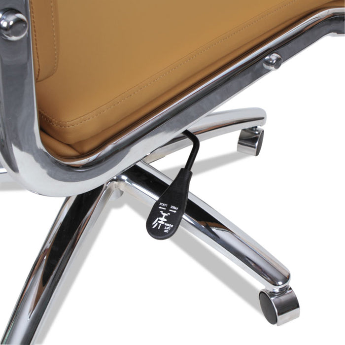 Alera Neratoli High-Back Slim Profile Chair, Supports up to 275 lbs., Camel Seat/Camel Back, Chrome Base