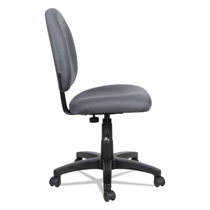 Alera Essentia Series Swivel Task Chair, Supports up to 275 lbs., Gray Seat/Gray Back, Black Base