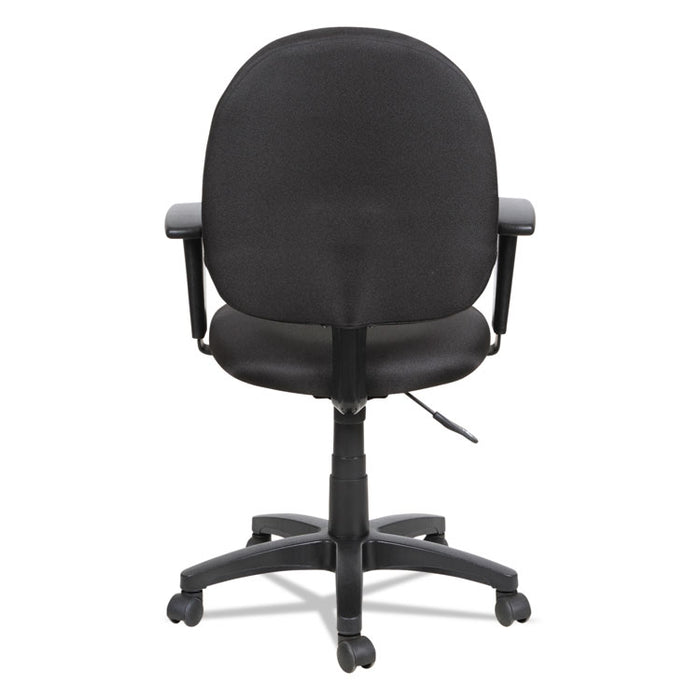 Alera Essentia Series Swivel Task Chair with Adjustable Arms, Supports up to 275 lbs., Black Seat/Black Back, Black Base