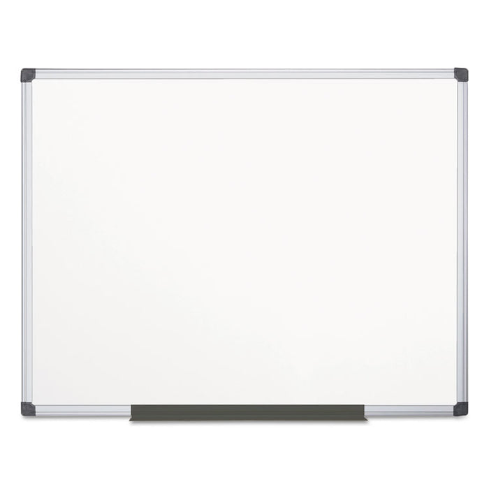 Porcelain Value Dry Erase Board, 48 x 72, White, Aluminum Frame
